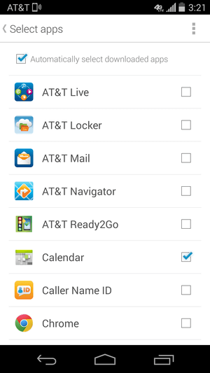 Manage which apps display notifications.