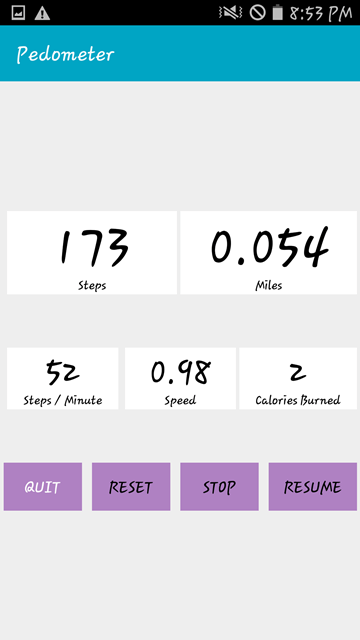 Pedometer App Review Android - 005