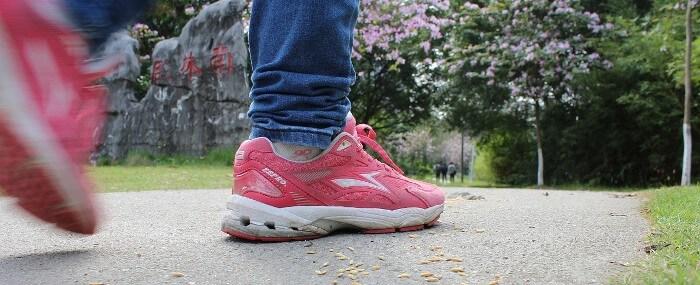 Pink Shoes Walking