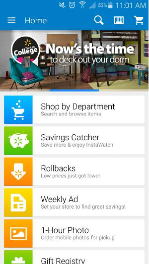 Shopping Apps for Android - Walmart 1