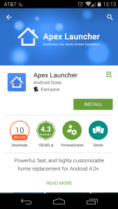 Apex-Launcher-Install-Page