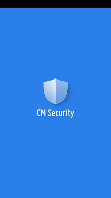 CM Security Antivirus and AppLock - opening screen