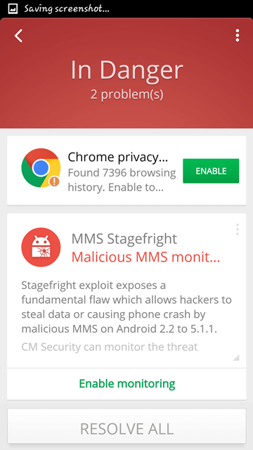 CM Security Antivirus and AppLock - mms stagefreight