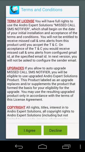 SMS-Call-Notifier-Agreement