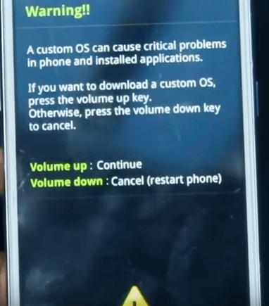 Rooting Samsung Galaxy Grand Prime - Custom OS Warning