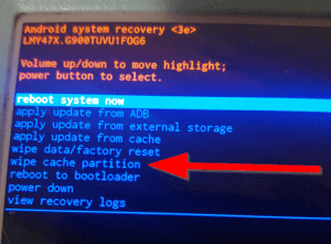 Lollipop Issues wipe cache partition
