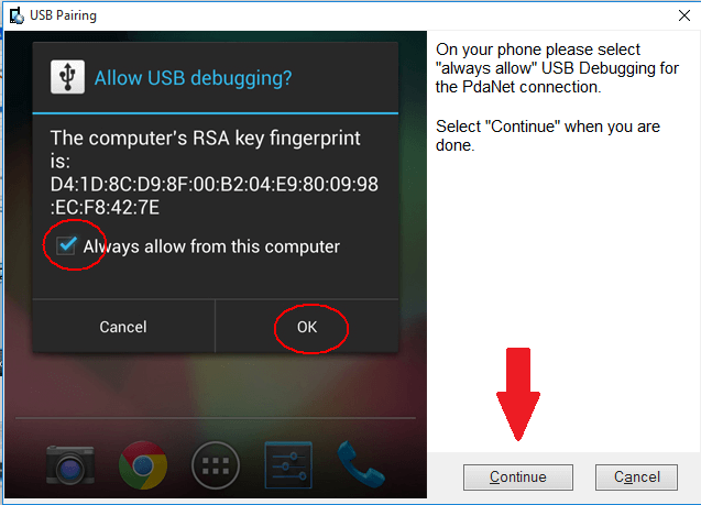 How to use pdanet usb tether