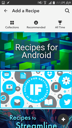 Premade Recipies on IFTTT