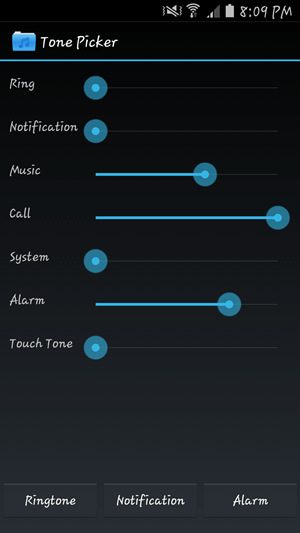 Tone Picker main screen
