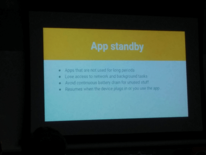 Android 6.0 Marshmallow - app-standby