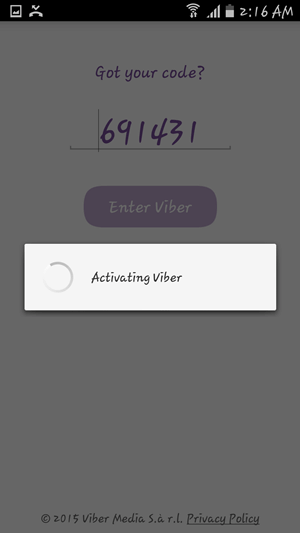 Activation code automatically entered
