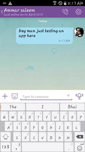 Chatting on Viber