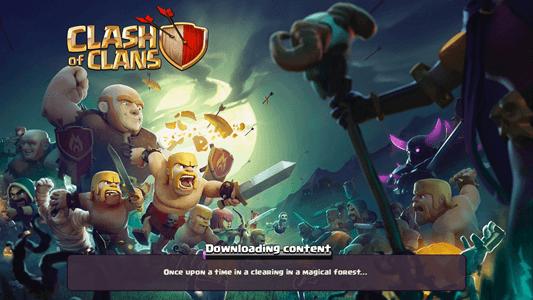 Clash of Clans splash screen