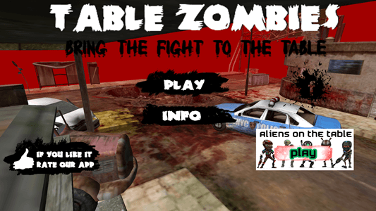 3 great augmented reality apps on android for Table zombies