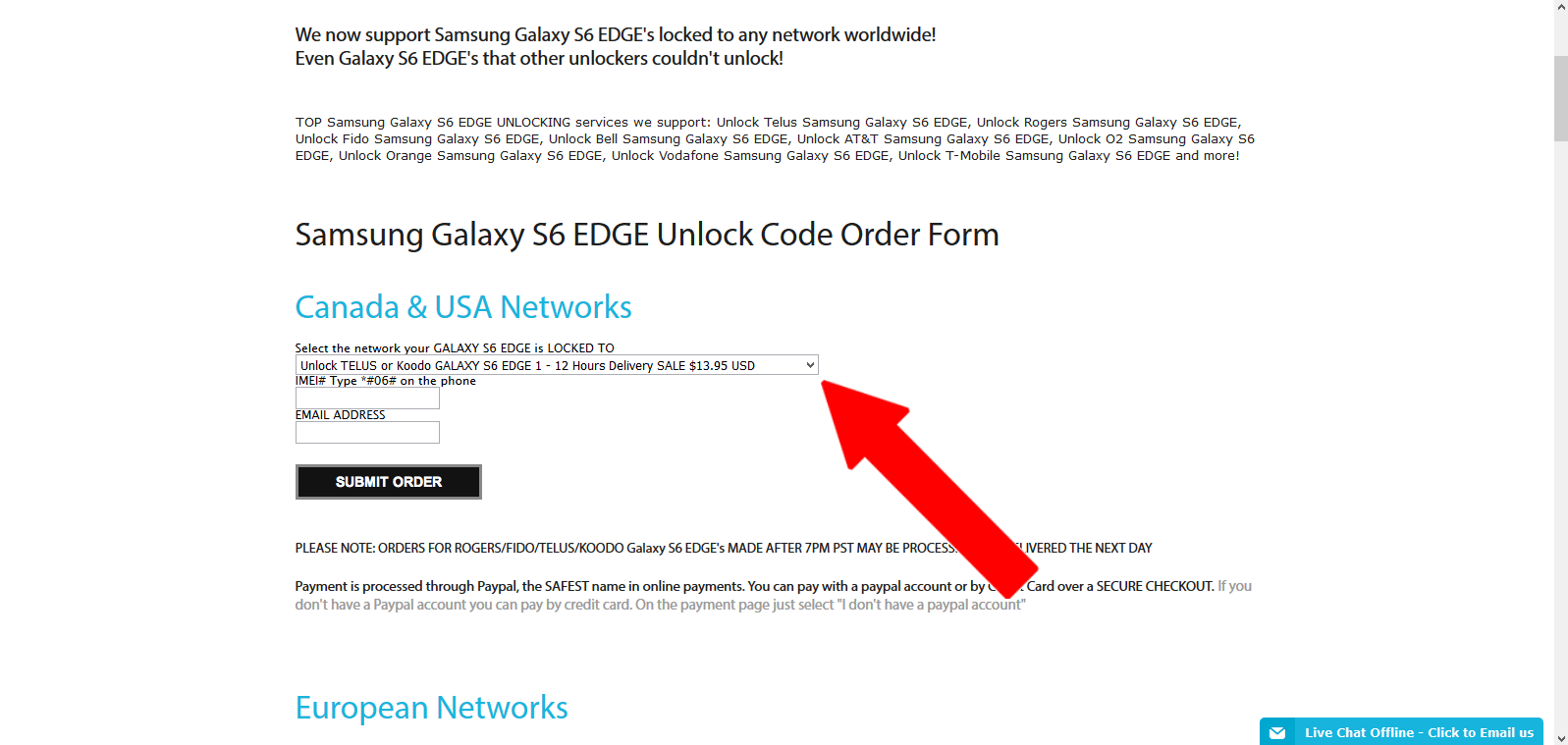 How to Unlock your Samsung Galaxy S6 Edge With Codes