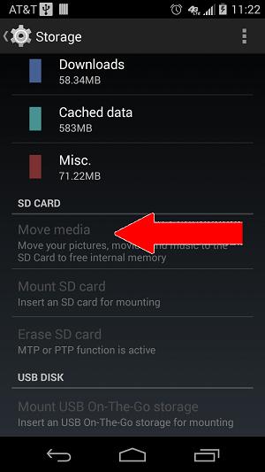 sd card move media