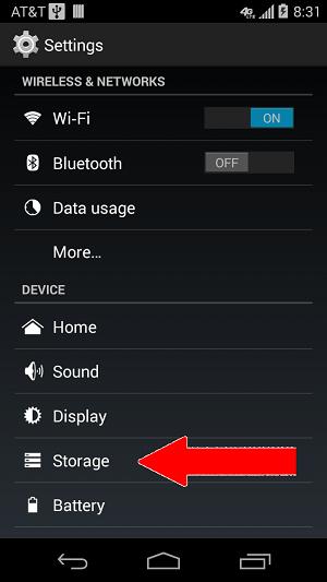 settings storage