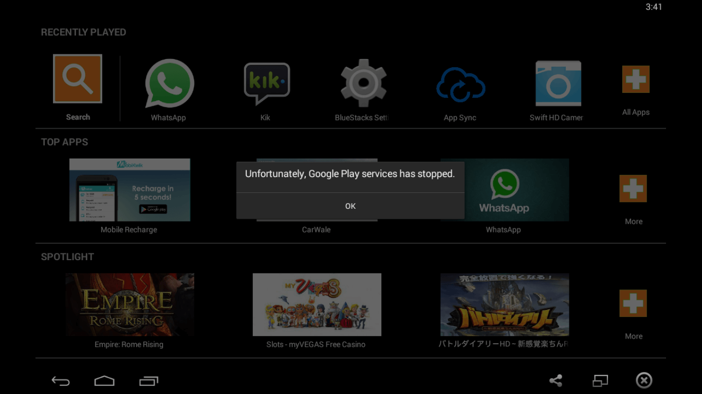 Google-play-services stopped