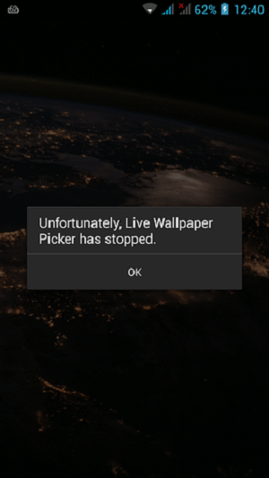 Live Wallpaper Crash