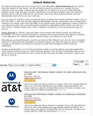 Unlock Motorola