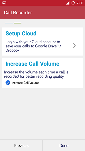 Cloud setup - Automatic Call Recorder Pro