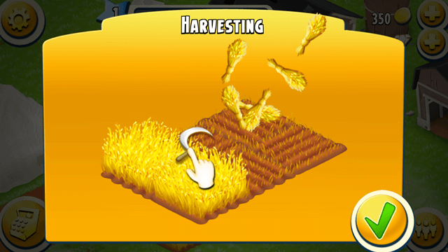 Harvesting animation - Hay day
