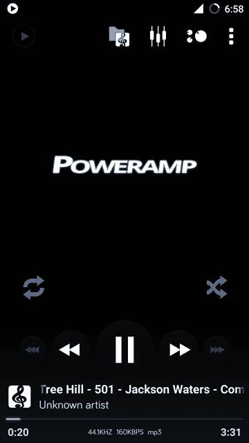 Playing - PowerAmp