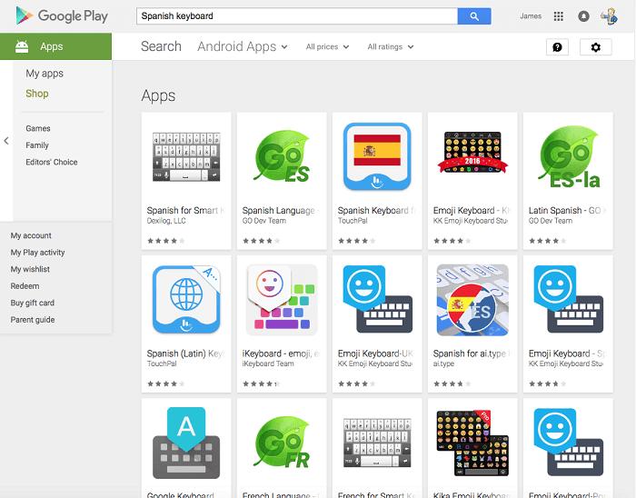 Spanish Keyboard Apps