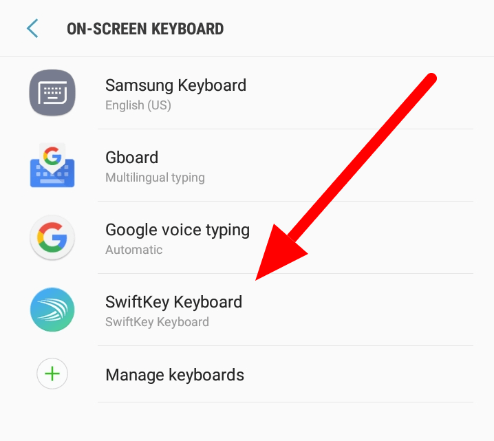 How To Change Your Keyboard on Android - Select New Keyboard