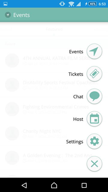 how to create app events content