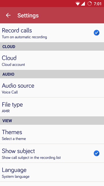 file type - Automatic Call Recorder Pro