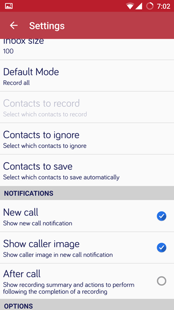 notifications - Automatic Call Recorder Pro