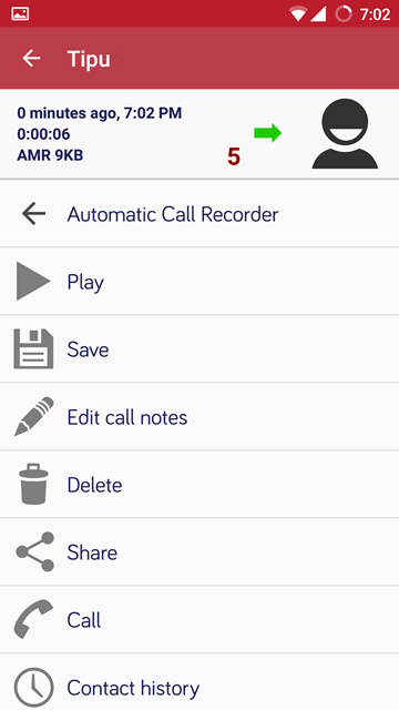 recorded call - Automatic Call Recorder Pro