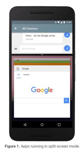 Android N Splitscreen