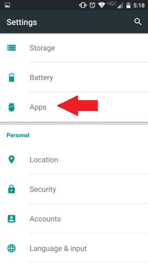 Clear Google Hangouts Cache Data