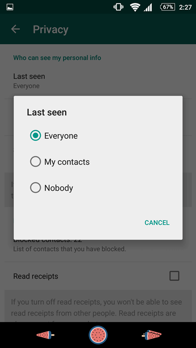 """Cannot See """"Last Seen"""" on WhatsApp"""