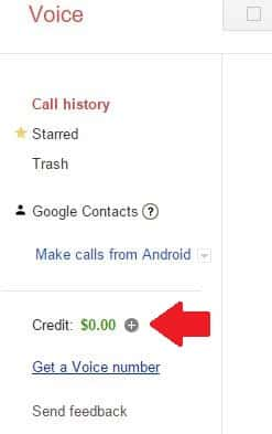 Make calls on Hangouts by purchasing credits