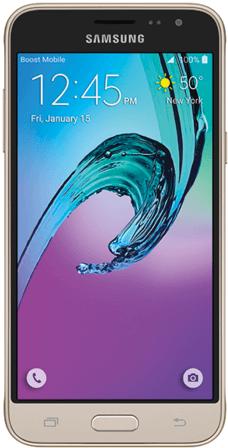 Samsung J3 Home Screen