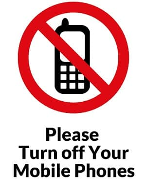Turn Off Mobile Sign