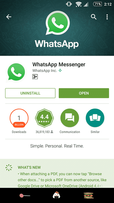 WhatsApp Won't Install
