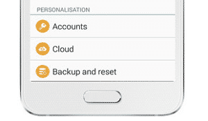 a5 backup and reset