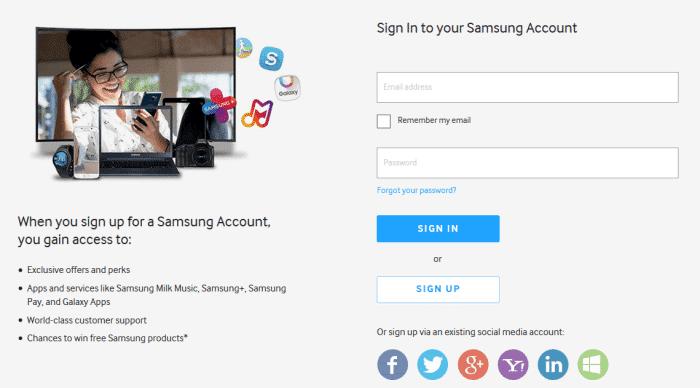 samsung-account