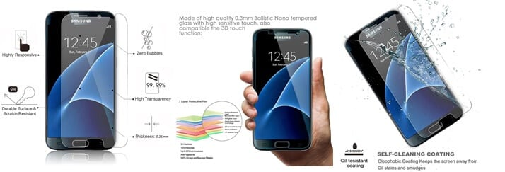 Galaxy S7 Tempered Glass Screen Protector
