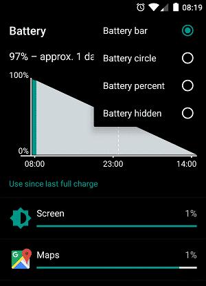 OneplusX-Battery-percentage