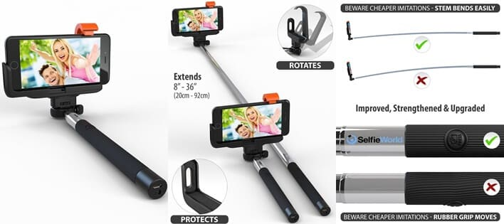 Selfie World Certified Monopod