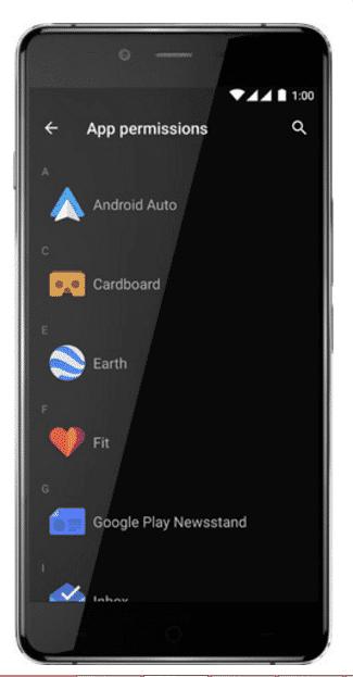 app permissions - oneplus x