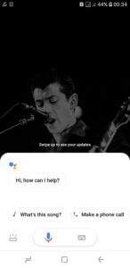 google assistant will pop up