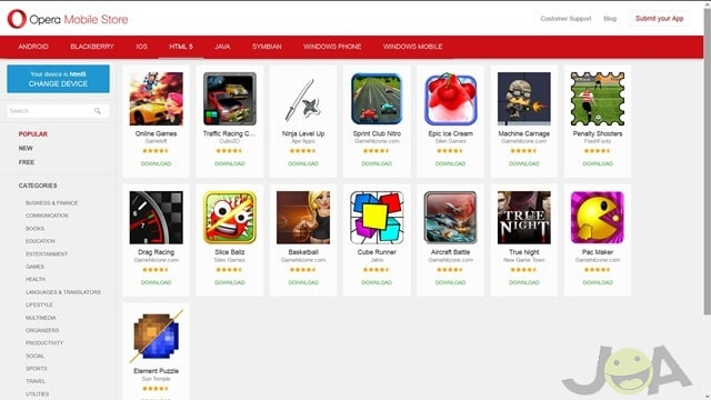 7. Opera Mobile Store