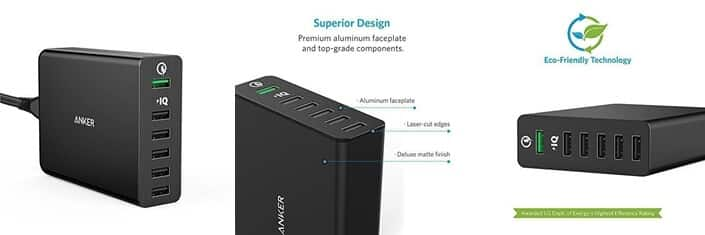 Anker 6-Port USB Charger