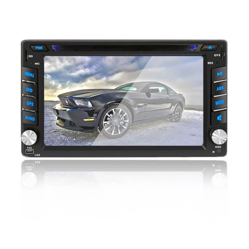 Double DIN Car Stereo In-Dash DVD player GPS Navigation For Car with Rear View Camera,Support Offline GPS Navigation